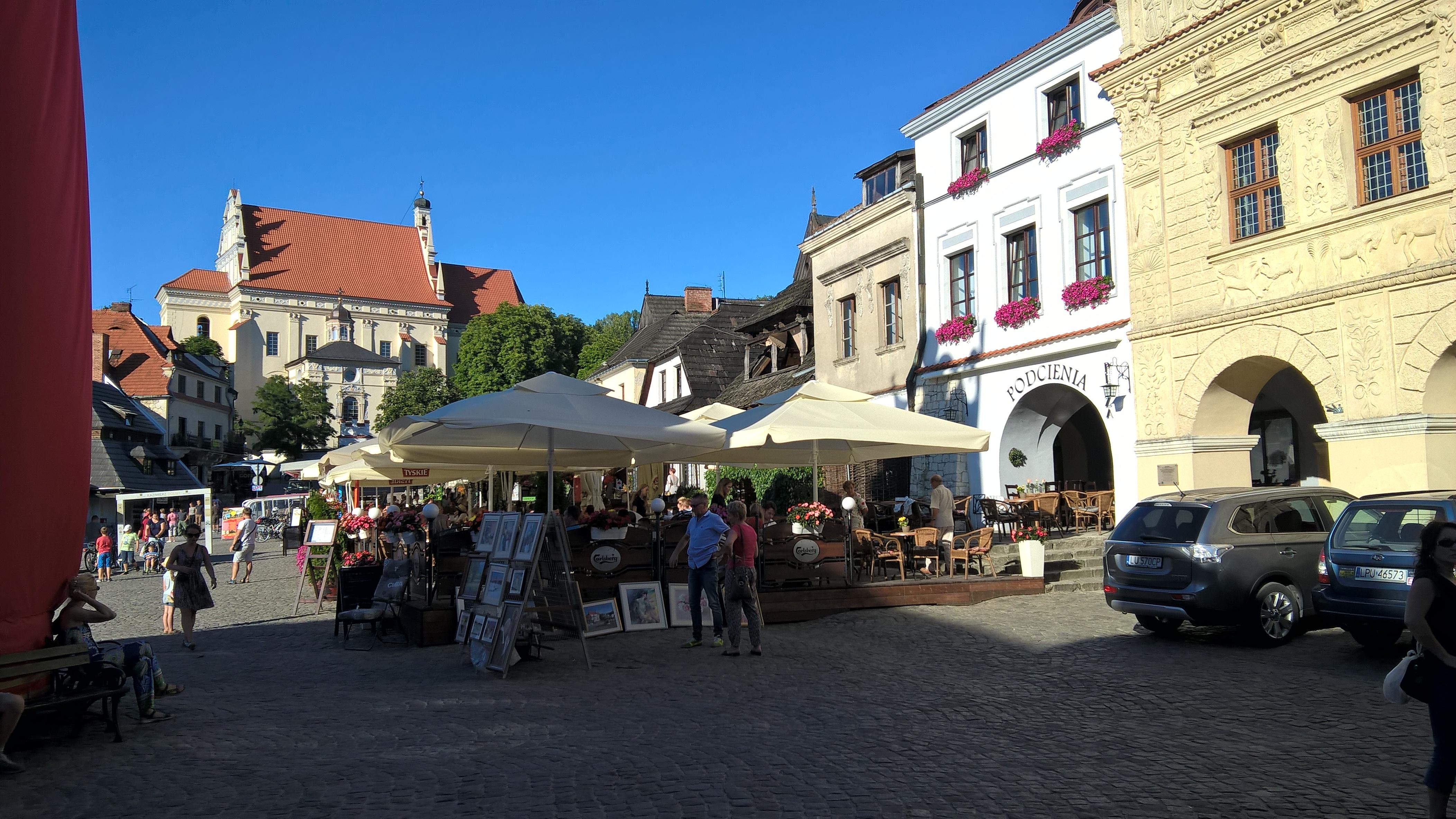 Widok na rynek w Kazimierzu Dolnym